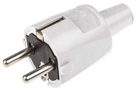 ABL Sursum - 1418060 - 灰色 2P+E 欧洲 市电 插头, 额定250 V 16A