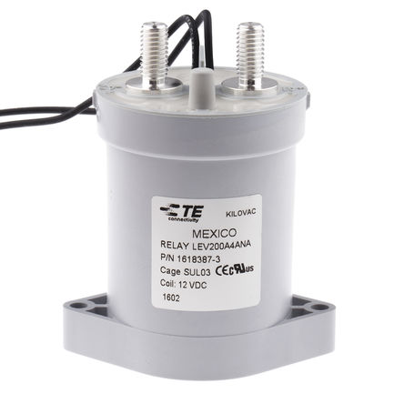 TE Connectivity - LEV200A4ANA 1618387-3 - TE Connectivity KILOVAC LEV 系列 接触器 LEV200A4ANA 1618387-3, 常开触点, 500 A, 12 V 直流线圈