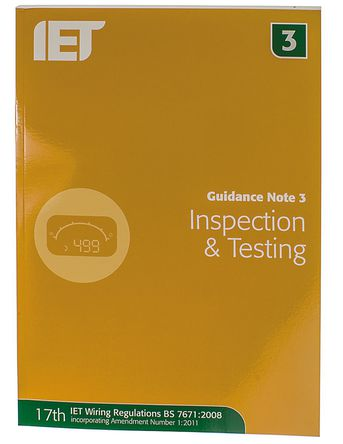 IET - 978-1-84919-275-0 - 书名: Guidance Note 3: Inspection and Testing, 作者 IET Publication