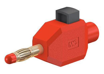 Multi Contact - 22.3006-22 - Multi Contact 22.3006-22 红色 香蕉插头, 30 V ac, 60 V dc 10A, 镀镍触点