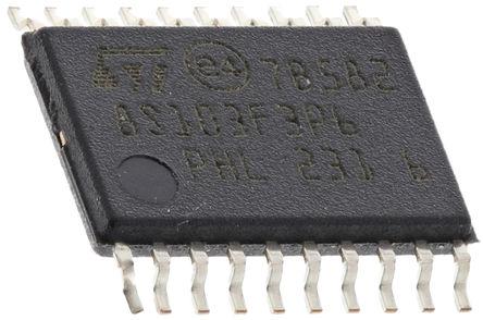 STMicroelectronics - STM8S103F3P6 - STMicroelectronics STM8S 系列 8 bit STM8 MCU STM8S103F3P6, 16MHz, 640 B,8 kB ROM 闪存, 1 kB RAM, TSSOP-20