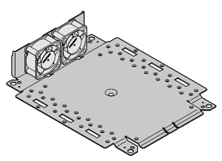 Schroff - 24827255 - Schroff 钢 安装板,带风扇单元 24827255, 217.45 x 214.95 x 85.6mm, 使用于Interscale M 电子箱