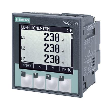 Siemens - 7KM2112-0BA00-2AA0 - Siemens SENTRON PAC3200 系列 7KM2112-0BA00-2AA0 92 x 92 mm 图形,LCD,单色 数字功率表, ±0.2(电流)%、±0.3(电压)%、±0.5(输出因数)%、±0.5(输出)%