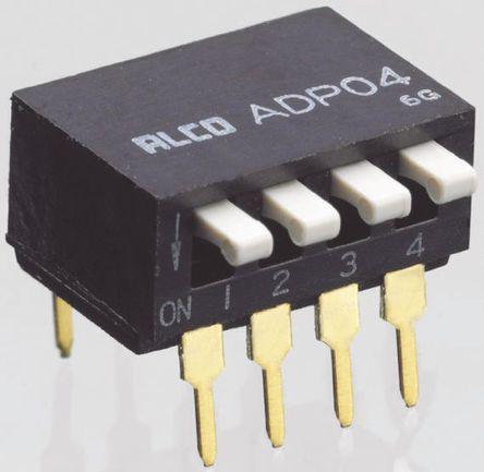 TE Connectivity - 5-1571999-6 - TE Connectivity 5-1571999-6 8位置 琴键式 通孔 DIP 开关, 单刀单掷, 100 mA@ 24 V 直流