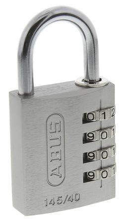 ABUS - 145/40 Silver - Abus 145/40 Silver 灰色 �M合 �X,� 安全�戽i, 6mm �i�^