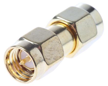 RF Solutions - ADP-SMAM-SMAM - RF Solutions 50Ω 直 射频适配器 ADP-SMAM-SMAM, 3GHz, SMA 插头 到 SMA 插头, 金镀镍触芯