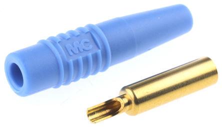 Multi Contact - 22.1012 +22.2170-23 - Multi Contact 22.1012 +22.2170-23 蓝色 4mm 插座, 30 V ac, 60 V dc 19A, 镀金触点