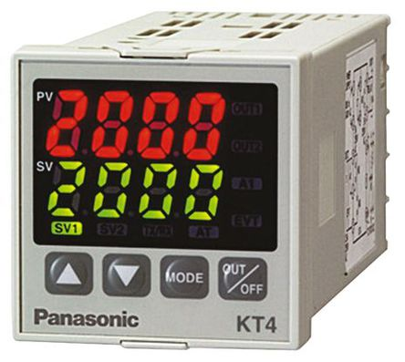 Panasonic - AKT4111100J - Panasonic KT4 系列 PID 温度控制器 AKT4111100J, 48 x 48mm, 100 → 240 V 交流, 1输出