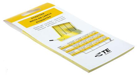 Idento - TEK 1138 - Idento TEK 1138 220件装 黑色/黄色 空白不干胶标签, 11mm长, 38mm宽