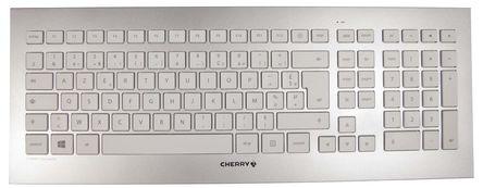 Cherry - JD-0300FR - Cherry 白色(�匙),白色/�y色(外�ぃ� USB �o� AZERTY �I�P�c鼠�颂准� JD-0300FR