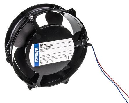ebm-papst - DV6224 - ebm-papst DV6200 系列 40W 24 V 直流 轴流风扇 DV6224, 540m3/h, 4300rpm, 172 (Dia.) x 51mm