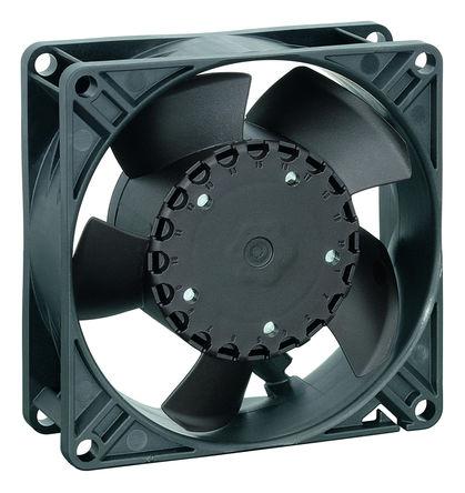 ebm-papst - 3314NHH - ebm-papst 3300N 系列 3.5W 24 V 直流 轴流风扇 3314NHH, 107m3/h, 3450rpm, 92 x 92 x 32mm