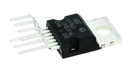 STMicroelectronics - L4960 - STMicroelectronics L4960 降压 开关稳压器, 9 → 46 V输入, 5.1 → 40 V输出, 150 kHz最高开关频率, 7引脚 HEPTAWATT V封装