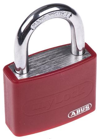 ABUS - 50870- T65AL/40 Red - Abus 50870- T65AL/40 Red �t色 �匙�I �X,� 安全�戽i, 6.5mm �i�^