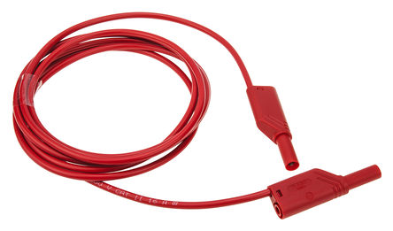 Hirschmann Test & Measurement - 934069101 - Hirschmann Test & Measurement 934069101 红色 测试引线, 16A额定电流, 1000V ac/dc, 公至公, 2m长