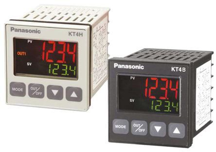 Panasonic - AKT4H111100 - Panasonic KT4H 系列 PID 温度控制器 AKT4H111100, 48 x 48mm, 100 → 240 V 交流, 1输出