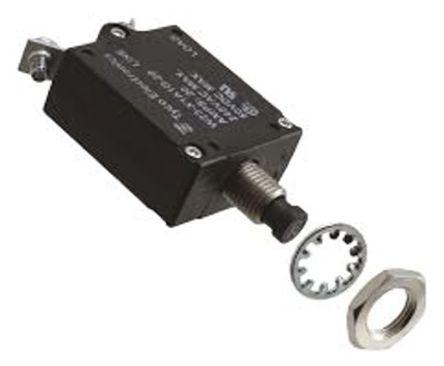 TE Connectivity - W23-X1A1G-1 - TE Connectivity W23 系列 1A 1 极 热磁断路器 W23-X1A1G-1, 50 V dc, 250 V ac