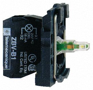 Schneider Electric - ZB5AVM5 - Schneider Electric XB5 系列 照明块 ZB5AVM5, 230 → 240 V 交流, 黄色 LED, 螺钉接端