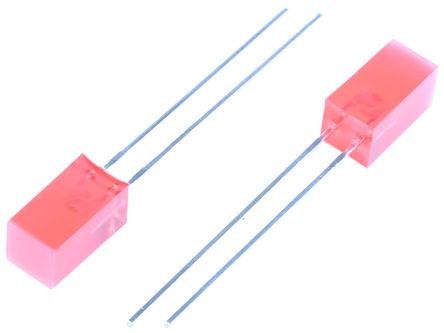 Kingbright - L-1553SRDT - Kingbright Rectangular 系列 �t色 (640 nm 主波�L) LED L-1553SRDT, 120 mcd, 110 °�角 矩形 通孔