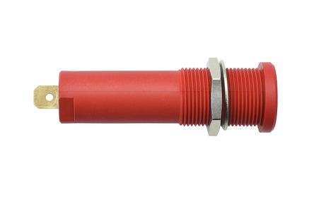 Schutzinger - HSEB 3125 L Au / RT - Schutzinger HSEB 3125 L Au / RT 红色 4mm 插座, 1kV 16A, 镀金触点
