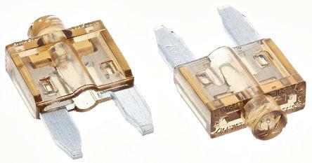 Littelfuse - 0CAM07.5H - Littlefuse 7.5A 棕色 车用插片式熔断器 0CAM07.5H, 包含指示灯, 12V dc, 10.8mm x 3.6mm x 19mm