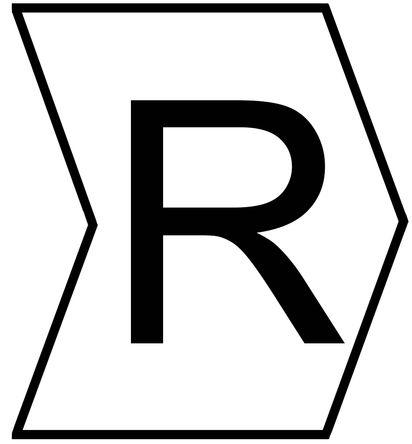 "HellermannTyton - 901-10277 - HellermannTyton Helagrip 系列 1000件�b 白底黑字 滑上固定 ��|�俗R 912-40738, 3.5mm�L, 3.3 mm��, 1 → 3mm��|直��, 印有""R""�D例"
