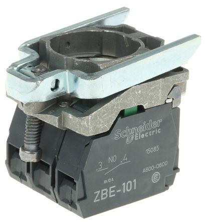 Schneider Electric - ZB4BW065 - Schneider Electric XB4 系列 接触块和照明块 ZB4BW065, 1 常开,1 常闭, 250 V, 螺钉接端