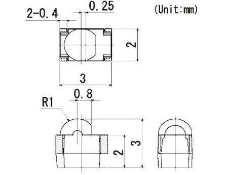 ROHM - SIM-012SBT87 - ROHM 红外线 LED, SIM-012SBT87, 950nm, 侧面观看者-4