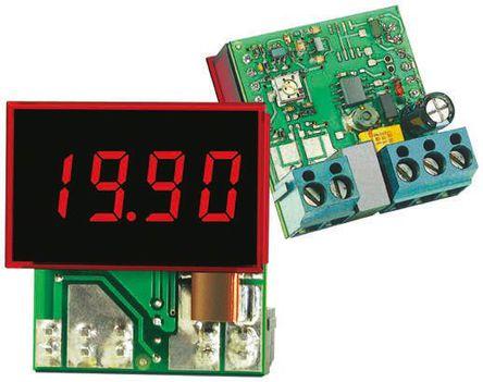 Murata Power Solutions - DCA-20PC-6-DC1-RL - Murata 3.5位 LED 数字面板式电流表 DCA-20PC-6-DC1-RL, 直流电流