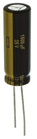 Panasonic - EEUFC1V152L - Panasonic FC 径向 系列 35 V 直流 1500μF 通孔 铝电解电容器 EEUFC1V152L, ±20%容差, 22mΩ(等值串联), 最高+105°C