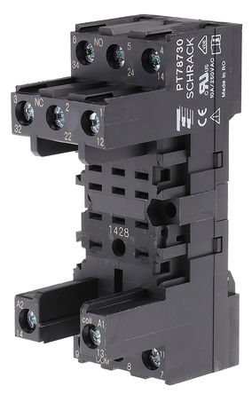 TE Connectivity - PT78730 9-1415071-1 - TE Connectivity 继电器插座 PT78730 9-1415071-1, 适用于PT3 系列