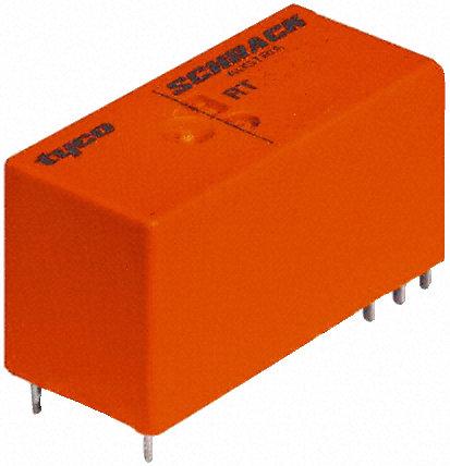 TE Connectivity - RT424A05 - TE Connectivity RT424A05 双刀双掷 表面贴装 自锁继电器, 5V dc, 适用于电源应用