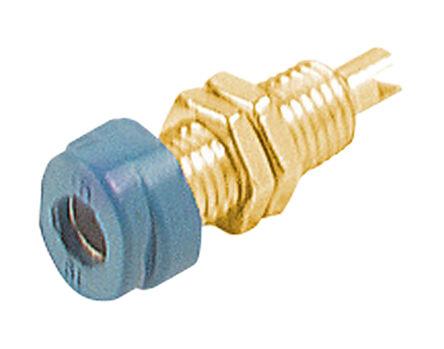 Hirschmann Test & Measurement - 930175702 - Hirschmann 930175702 蓝色 4mm 插座, 30 V ac, 60 V dc 16A, 镀金触点