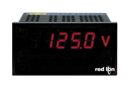 Red Lion - PAXLVA00 - Red Lion PAX 系列 PAXLVA00 37259位 LED显示 交流 数字面板式电压表, 92 x 45 mm, 0°C至60°C