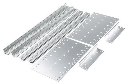 Schroff - 24562122 - Schroff 铝 子架 24562122, 使用于19 英寸 Europack Pro 固定套件
