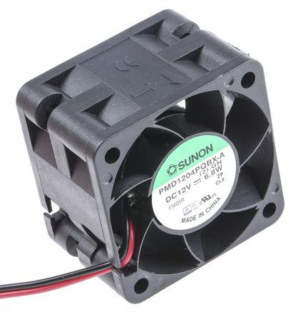 Sunon - PMD1204PQBX-A(2).GN - Sunon PMD 系列 6.8W 12 V 直流 轴流风扇 PMD1204PQBX-A(2).GN, 39.9m3/h, 13000rpm, 40 x 40 x 28mm