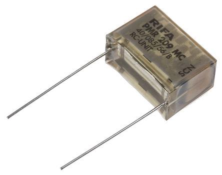 KEMET - PMR209MC6220M100R30 - KEMET PMR209 系列 220nF 100Ω 250 V 交流、630 V 直流 1路 RC 电容器, 通孔