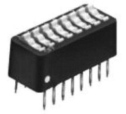 TE Connectivity - 3-5435640-5 - TE Connectivity 3-5435640-5 4位置 摇臂 通孔 DIP 开关, 单刀单掷, 100 mA@ 5 V 直流