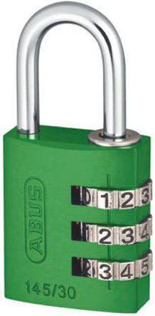 ABUS - 145/30 Green - Abus 145/30 Green �G色 �M合 �X,� 安全�戽i, 5mm �i�^