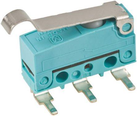 Panasonic - ABS451450 - Panasonic ABS451450 单刀双掷 模拟滚轮杠杆 微动开关, 2 A @ 30 V 直流
