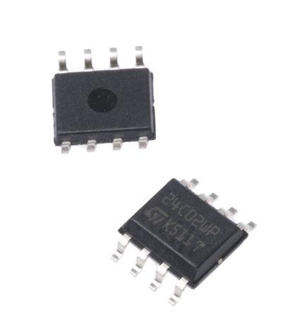 STMicroelectronics - M24C02-WMN6P - STMicroelectronics M24C02-WMN6P EEPROM 存储器, 2kbit, 256 x, 8bit, 串行 - I2C接口, 900ns, 2.5 → 5.5 V, 8引脚 SOIC封装