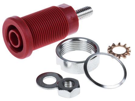 Schutzinger - SEB 6445 NI / RT - Schutzinger SEB 6445 NI / RT 红色 4mm 插座, 1kV 32A, 镀镍触点